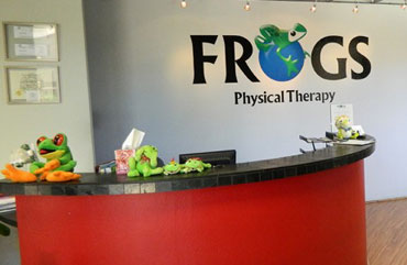 FROGS Physical Therapy Reception Area